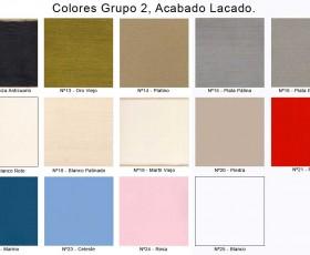 Colores Grupo 2, Acabado Lacado