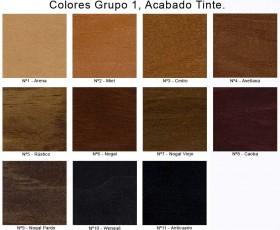 Colores Grupo 1, Acabado Tinte