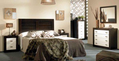 Dormitorio de Matrimonio Jamaica Wengue-Marfil