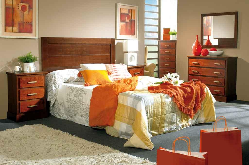 Dormitorio de Matrimonio Bahamas Nogal-Cerezo