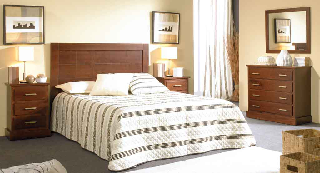 Dormitorio Matrimonio Bahamas Nogal