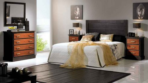 Dormitorio de Matrimonio Bahamas Wengue- Cerezo