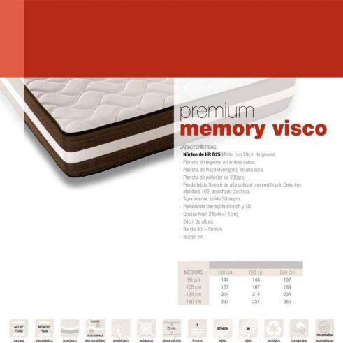 Colchón Premium Memory Visco