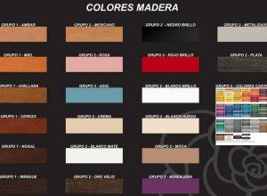 Colores muebles de madera