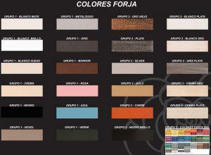 Colores muebles de forja